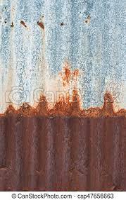 rusty corrugated metal wall rusty zinc grunge style background csp47656663