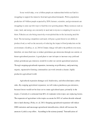 sustainable agriculture and food systems essay