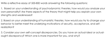 write a reflective essay of words answerin com question write a reflective essay of 500 800 words answering the following questions 1 based on your und