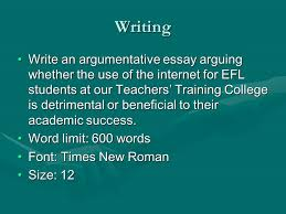 internet addiction cultural note college and university students  writing write an argumentative essay arguing whether the use of the internet for efl students at