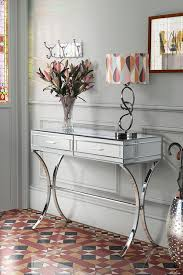 mirror hall table. Aurelia Mirrored \u0026 Chrome Dressing Console Mirror Hall Table