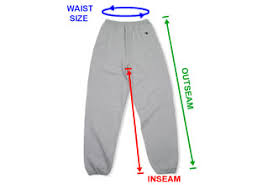 Customink Sizing Line Up For Champion Fleece Sweatpants