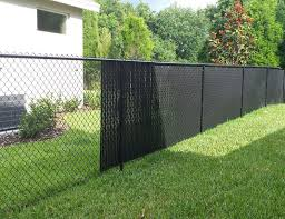 Chain Link Fence Slats Image Of Garden Inside Inspiration