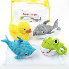 bath toys soft educational bath toy for baby toddlers use in or out of tub bonus mesh bath toy storage bag with suctions for easy drying no mold