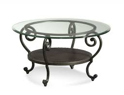 elegant wrought iron coffee table legs with round glass top and golden wrought iron in wrought