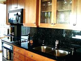 Black Granite Countertops With Tile Backsplash Gorgeous Backsplash For Black Granite Countertops A With Black Granite