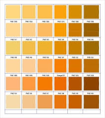 Orange Pantone Color Chart Free 8 Sample Pantone Color Charts In Word Pdf