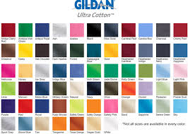 Gildan 5000 Color Chart 2018 Gildan Tee Shirt Color Chart Www Bedowntowndaytona Com