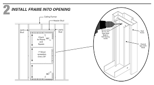 door jamb diagram. Step 2: Install The Door Frame Into Rough Opening Jamb Diagram