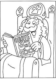 Sinterklaas In De Quote 500 Sinterklaas Kleurplaten Kleurplaatcom