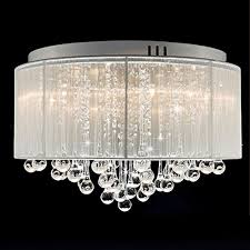 contemporary drum lighting. DINGGU™ Flush Mounted Luxury Contemporary Drum Ceiling Chandelier Light Fixtures With Cylinder Lamp Shade For Lighting
