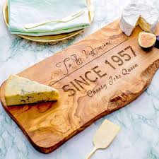 personalised wooden chopping cheese board by the rustic dish