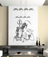 trends on wall matte pvc shiv and parvati wall sticker