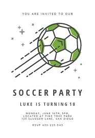 Soccer Party Invite Sports Games Invitation Templates Free Greetings Island