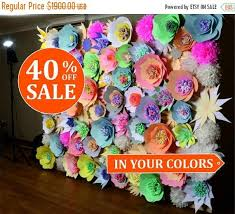 Paper Flower Photo Booth Backdrop 40 Off Paper Flower Wall Wedding Backdrop Paper Flower Backdrop