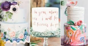 Hand Painted Wedding Cakes Onefabdaycom