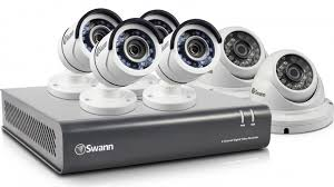 swann dvr8 4550 8 channel home security system with 6 s