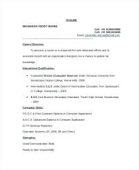 Resume For Computer Engineering Computer Science Resume Template 7