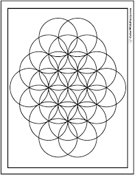 Small Picture Simple Geometric Patterns Coloring Pages For Kids