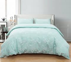 zigguo king size duvet cover set jacquard fl pattern 3 piece comforter 2