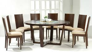 round shaped solid wood dining set