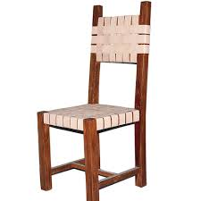 details about genuine bridle strap leather dining chair handmade
