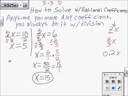 equations fractional linear coefficients solve to how solving 7th equations rational math with coefficients linear