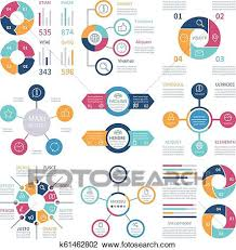 Pie Chart Infographic Infographic Design Pie Charts And Step Circle Diagram Text