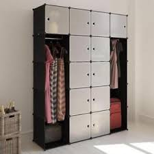 modular cabinet furniture. Image Is Loading MODULAR-CABINET -14-Compartments-Black-White-Organised-Bedroom- Modular Cabinet Furniture K