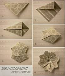 Flower Made By Paper Folding How To Fold Paper Teabag Flower Step By Step Diy Instructions
