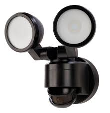 Home Depot Ca Outdoor Lighting 180 Degree Black Motion Activated Outdoor Integrated Led Twin Head Flood Light