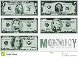 5 Dollar Design A Twenty Dollar Bill Typographic Design Stock Illustration