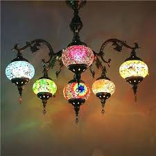 pendant light handmade mosaic stained glass corridor stairwell cafe restaurant hanging lamp moroccan style lights uk