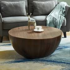 round drum coffee table with storage
