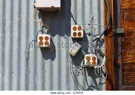 old wiring stock photos & old wiring stock images alamy Old Electric Wiring old electric wiring and equipment on wall stock image old electric wiring
