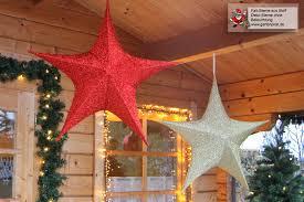 Große Deko Sterne Aus Glitzerndem Polyestergewebe Zum