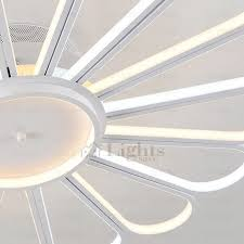 creative fan shaped led ceiling light fixtures for bedroom
