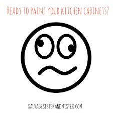 To Paint A Kitchen Afraid To Paint Kitchen Cabinets Salvage Sister And Mister