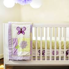 Lavender Nursery Lavender Butterfly Nursery In A Bag Bedding Set Walmartcom