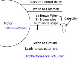 how to wire a run capacitor to a motor blower & condenser hvac wiring blower wiring diagram of 2002 dodge dakota single run capacitor wiring diagram