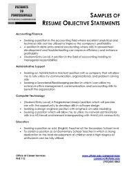 Objective Examples Resume Objective Template Sample For Ojt Samples Customer Service