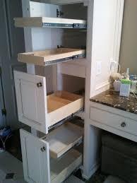 custom bathroom storage cabinets. Fine Storage Modern Bathroom Storage Unique Open Drawers Tall White Cabinet Perfume  Bottle Lower Basket Granit Surface  Inside Custom Cabinets O