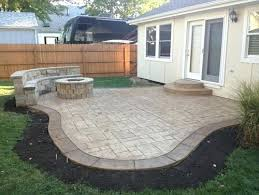 Concrete Patio Ideas Backyard Decorative Concrete Patio Border Ideas