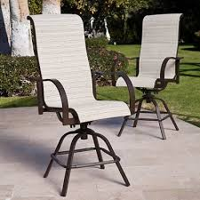 bar height patio chair: bar height balcony stools patio chairs pc set padded sling swivel furniture new whats it worth