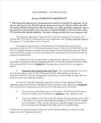 sample employment separation agreement documents employment separation form agreement