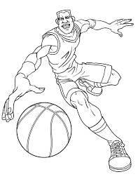 Basketball Sport For Teenagers Coloring Page H M Coloring Pages