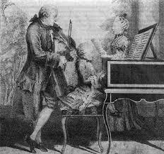 Сальери и Моцарт тайна смерти История России Всемирная  Леопольд Моцарт со своими детьми Вольфгангом и Марией Анной