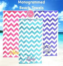 designer beach towels. Designer Beach Towels Monogrammed Chevron Personalized Bridesmaid Kids . E