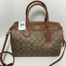 ... New Coach Bennet Large satchel signature ...