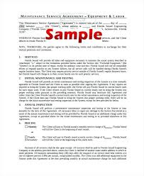 Simple Service Contract Sample Service Contract Template Naveshop Co